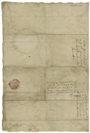 Letter signed from James VI, King of Scotland, Aberdeen, to George Keith, Earl Marischal, Copenhagen, Denmark