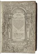 1571. Les comentaries, ou les reportes de Edmunde Plowden vn apprentice de le comen ley