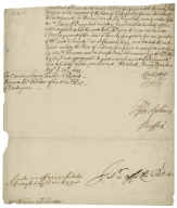 Warrant for payment from the Exchequer to Sir Robert Howard (fragment)