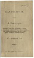 Macbeth : a burlesque