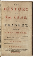 The history of King Lear : a tragedy : acted at the King's Theatre ; reviv'd with alterations / by N. Tate