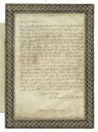 Letter to Anne Hathaway; Forgeries by William Henry Ireland of documents pretended to be in Shakespeare's hand [manuscript]
