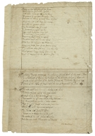 A stately tragedy containing the ambitious life and death of the great Cham... [manuscript].