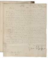 Autograph letter signed from John O'Keeffe, Chichester, Sussex to J. Winston, Esqr., Drury Lane Theatre [manuscript].