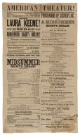 San Francisco Theatre, Midsummer Night's Dream, playbill