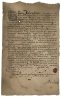 Indentured servant contracts for the colonies of Maryland, Virginia, Pennsylvania and Barbados [manuscript].