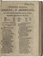 Amado, y Aborrecido / de don Pedro Calderon de la Barca.