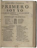 Primero soy yo / de don Pedro Calderon de la Barca.