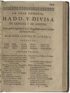 Hado, y divisa de Leonido, y de Marfisa : fiesta, que se representò à sus Magastades en el Coliseo del Buen-Retiro / de d. Pedro Calderon de la Barca.
