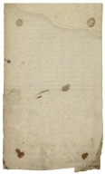 Letter signed from the Privy Council, St. James, to William Cecil, Baron Burghley, Lord High Treasurer : fragment