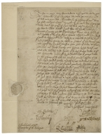 Letter signed from the Privy Council, Greenwich, to Thomas Sackville, Lord Buckhurst, Chancellor of the Exchequer