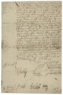 Letter signed from the Privy Council, Whitehall, to Thomas Sackville, Lord Buckhurst, Chancellor of the Exchequer