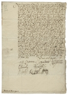 Letter signed from the Privy Council, Greenwich, to Nathaniel Bacon, Esquire