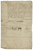 Letter signed from the Privy Council, Whitehall, to Thomas Sackville, Lord Buckhurst, Lord High Treasurer of England