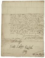 Letter signed from the Privy Council, Greenwich, to the Lord High Treasurer of England : fragment