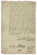 Letter signed from Privy Council, Richmond, to the Lord Treasurer