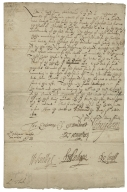 Letter signed from Privy Council, Richmond, to Thomas Sackville, Lord Buckhurst, Lord High Treasurer of England