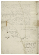 Letter signed from Privy Council, Whitehall, to Thomas Sackville, Baron Buckhurst, Lord High Treasurer of England
