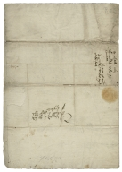 Letter signed from the Privy Council, Whitehall, to Thomas Sackville, Baron Buckhurst, Lord High Treasurer of England