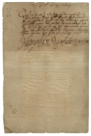 Letter from the Privy Council, the Court, to the Master of the Wardrobe