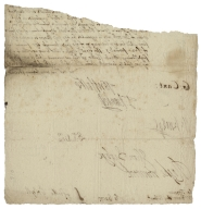 Letter from the Privy Council, Whitehall, to Thomas Howard, Earl of Suffolk?, and Sir Fulke Greville? : fragment