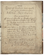 The river of justice navigable, being the substances of two assize-sermons [manuscript].