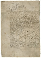Letter of command signed from Elizabeth I, Queen of England, to Lord North, and other Commissioners of Musters for Cambridgeshire