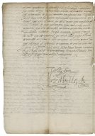 Letter signed from Elizabeth I, Queen of England, Westminster, to the Emperor Rudolph II