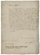 Autograph letter signed from Sir Tobie Matthew to his father, the bishop of Durham