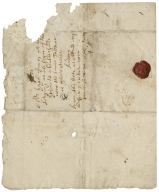 Autograph letter signed from Robert Warcupp to Hugh Jones