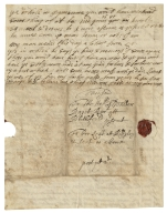 Autograph letters (drafts) from Sir Walter Bagot to his son Edward, Sir Thomas Wagstaffe and others