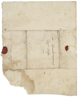 Autograph letter signed from Samuel Baldwyn to Sir Edmund Warcupp