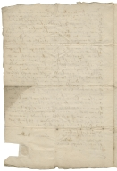 Acquittance from Lawrence Wadlowe, blacksmith of Worthing, Hertfordshire, to William Aman of Dunstable, Bedfordshire