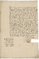 Acquittance from Michael Grigg of London to William Hale of King's Walden