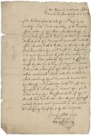 Affidavit of John Bradley, servant to Rose Hale