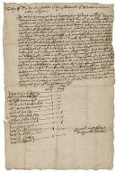 Order from Nathaniell Stokes to the Constables of the Allotment of Preece, Shropshire