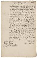 Acknowledgement of Edmund Smyth concerning change of landlords in King's Walden, Hertfordshire