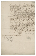 Acquittance/Quitclaim from Robert Bendish of Norwich, Norfolk, to Sir John Hale of Staggenhoe, Hertfordshire