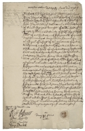 Acquittance from Mary Payne of Shingay, Cambridgeshire, to William Hale of King's Walden, Hertfordshire