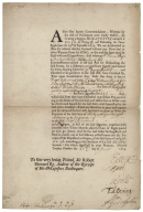 After our hearty commendations; whereas by the Act of Parliament now lately passed, for granting a supply to His Majesty of 206462 l. 17 s. 3 d. for paying off, and disbanding the forces raised since the 29th of September 1677, we are authorized to issue the money thereby granted without any privy seal or other warrant from the King, ... 1679