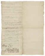Receipted bill for work done at Ralph Fordham's farm for the use of Rowland Hale