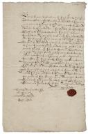 Acquittance from William Hale of Hertfordshire to Bernard Hale of King's Walden, Hertfordshire