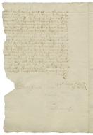 Acquittance from Alice Hale to William Hale of King's Walden, Hertfordshire