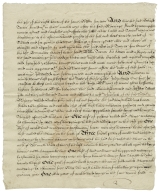 Settlement between Richard Turner of Thaxted, Essex, and Marie his wife of the first part, Richard Everard of Hawkedon, Suffolk and Jeffery Titterell of Little Sampford, Essex of the second part and William Turner of the third part, August 1, 1639 : copy
