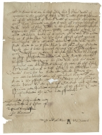 Acquittance from Alice Welles of Mangrove, Lilley, Hertfordshire to William Hale of King's Walden, Hertfordshire