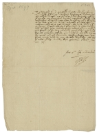 Autograph letter signed from Robert Devereux, Earl of Essex, Sandwich, to a peer