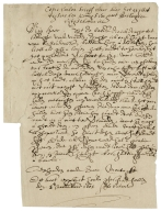 Translation of letter from Francis Tresham[?] to William Parker, Lord Monteagle, October 26, 1605