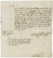 Letter from Thomas Docksie, Leekfrith, to Walter Bagot