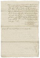 Letter from Walter Bagot to James I, King of England