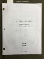 A thousand acres / screenplay by Laura Jones ; based on the novel by Jane Smiley.